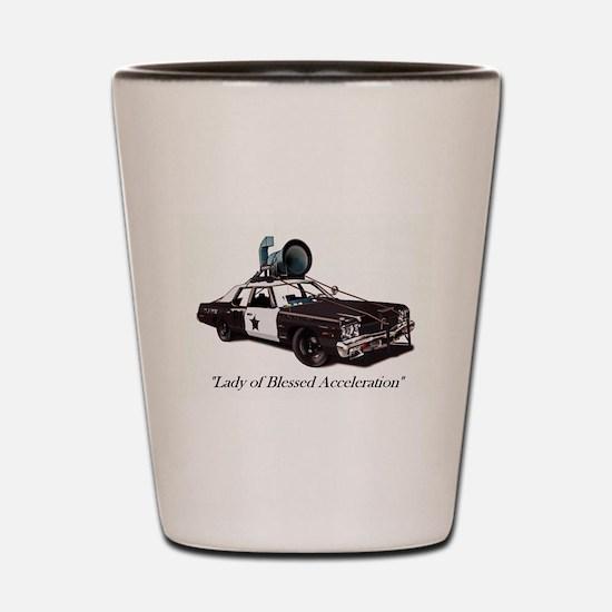 Bluesmobile Shot Glass