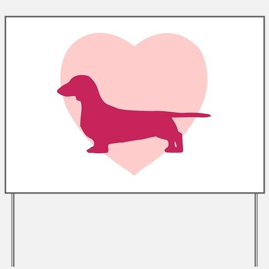 Dachshund Valentine's Day Yard Sign