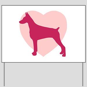 Doberman Pinscher Valentine's Day Yard Sign