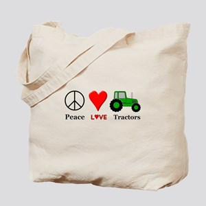 Peace Green Tractor Tote Bag