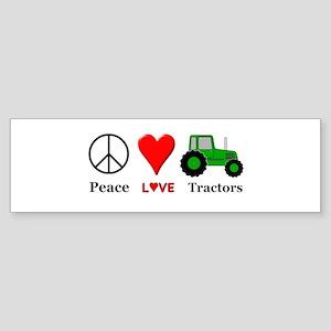 Peace Green Tractor Sticker (Bumper)