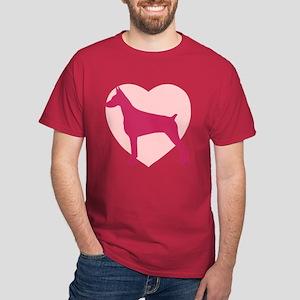 Doberman Pinscher Valentine's Day Dark T-Shirt