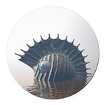 Sea Monsters Round Car Magnet