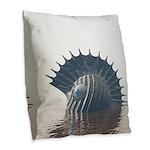 Sea Monsters Burlap Throw Pillow