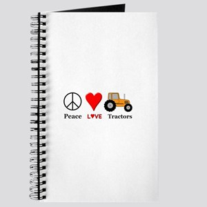 Peace Orange Tractor Journal