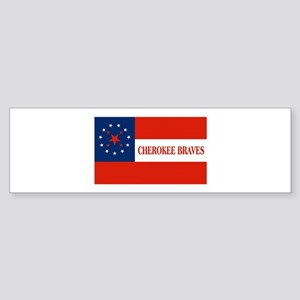 Cherokee Braves Flag Bumper Sticker
