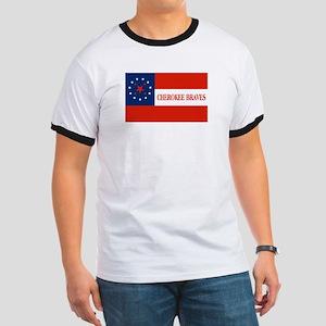 Cherokee Braves Flag T-Shirt