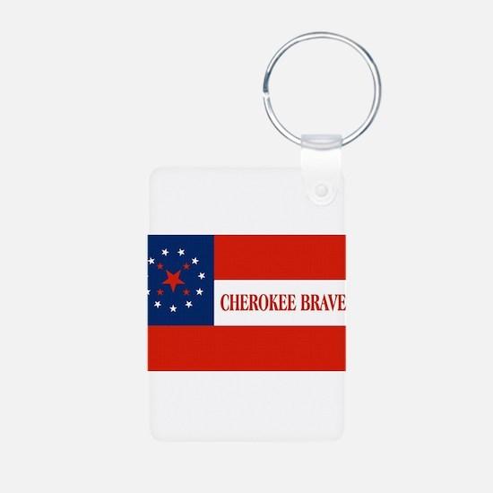 Cherokee Braves Flag, United States Keychains