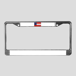 Cherokee Braves Flag, United S License Plate Frame