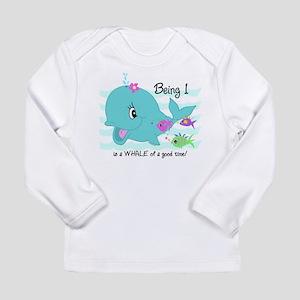 Whale 1st Birthday Long Sleeve Infant T-Shirt