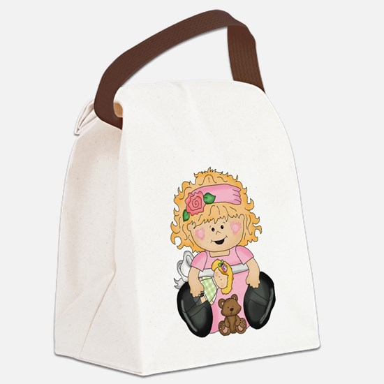 Happy Girl Canvas Lunch Bag