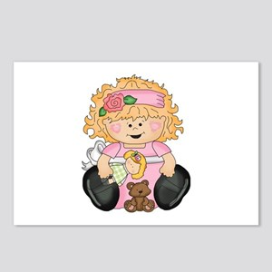 Happy Girl Postcards (Package of 8)