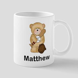 Matthew's Baseball Bear Mug