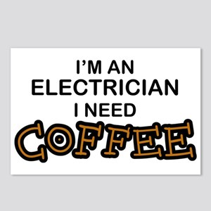 Electrician Need Coffee Postcards (Package of 8)
