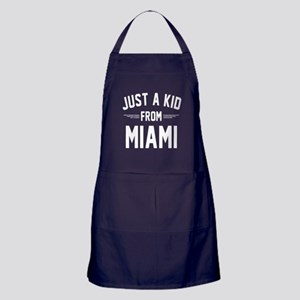 Just A Kid From Miami T Shirt Apron (dark)