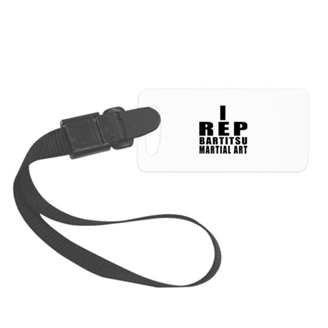 I Rep Bartitsu Martial Arts Small Luggage Tag