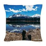Relaxin' at Lassen Woven Throw Pillow