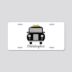 Personalized Black Taxi Cab Design Aluminum Licens