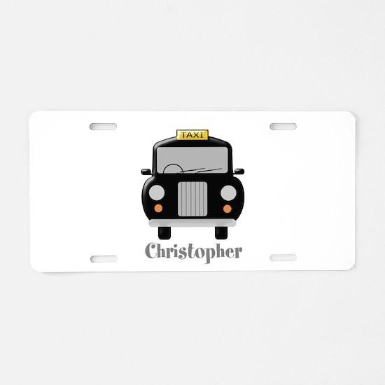 Personalized Black Taxi Cab Design Aluminum Licens