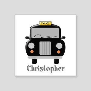 Personalized Black Taxi Cab Design Sticker