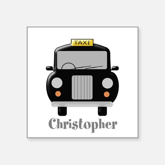 Personalized Black Taxi Cab Design Sticker