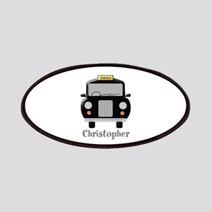 Personalized Black Taxi Cab Design Patch