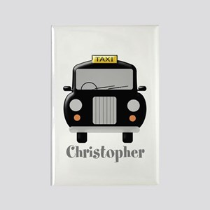 Personalized Black Taxi Cab Design Magnets