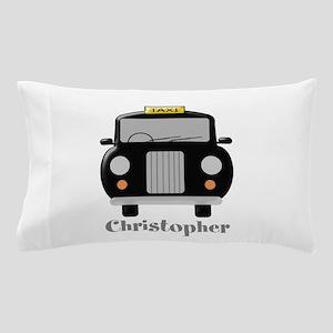 Personalized Black Taxi Cab Design Pillow Case