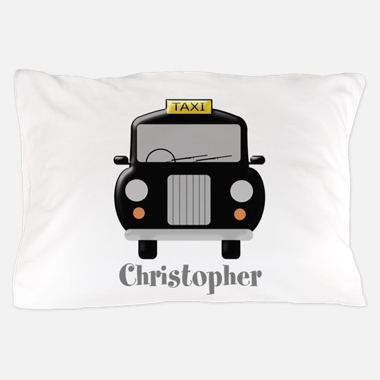 Personalized Black Taxi Cab Design Pillow Case
