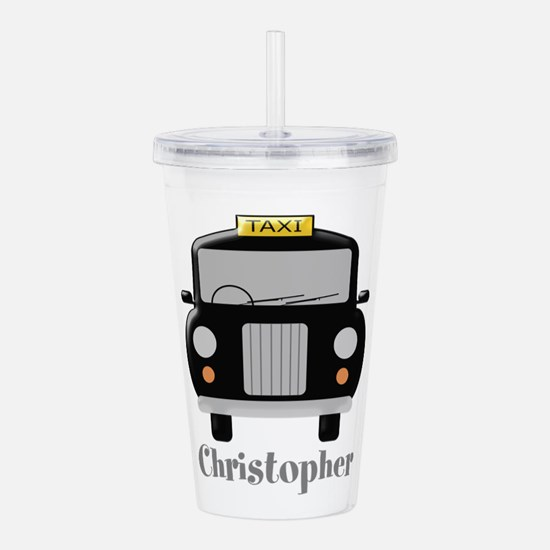 Personalized Black Taxi Cab Design Acrylic Double-
