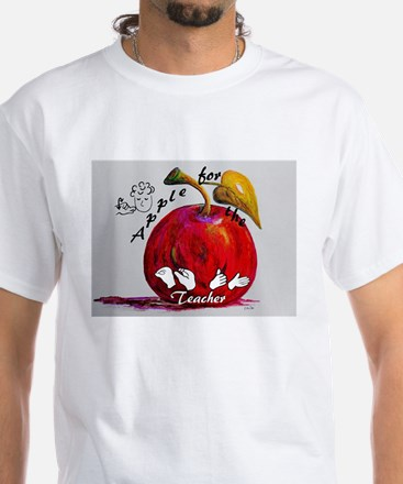 ASL Apple for the Teacher T-Shirt
