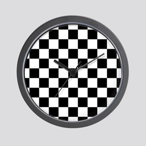 Black Checkers Wall Clock