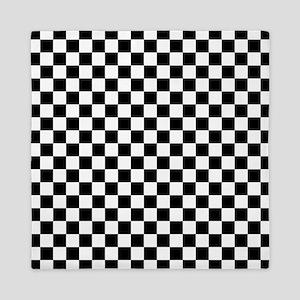 Black Checkers Queen Duvet