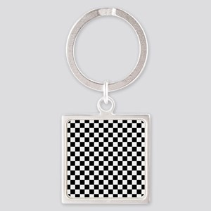 Black Checkers Keychains