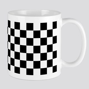 Black Checkers Mugs