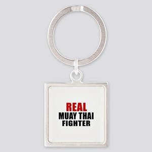 Real Muay Thai Fighter Square Keychain