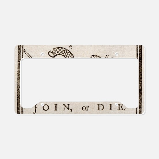 Cute Join or die License Plate Holder