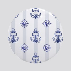 ANCHORS AWEIGH Round Ornament