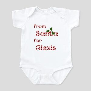 From Santa For Alexis Infant Bodysuit