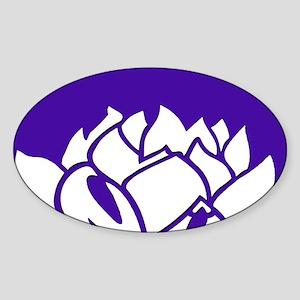 Violet & White Lotus Sticker