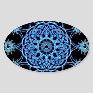 Ice Spiral Mandala Sticker