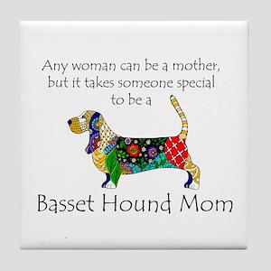 Basset Mom Tile Coaster