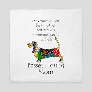 Basset Mom Queen Duvet