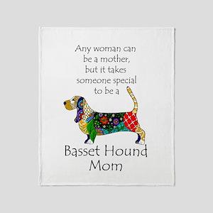 Basset Mom Throw Blanket