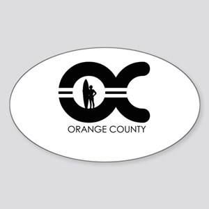 OC (Orange County) ~ Oval Sticker