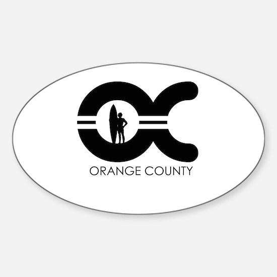 OC (Orange County) ~ Oval Decal
