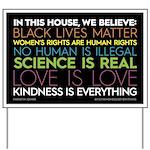 #inthishouse Yard Sign Simple
