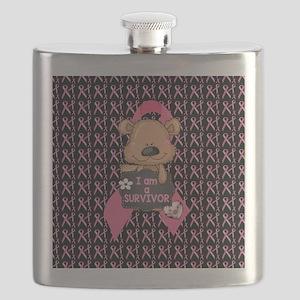 Breast Cancer Awareness Bear Flask