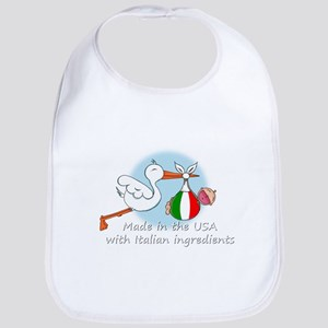 stork baby it 2 white Baby Bib