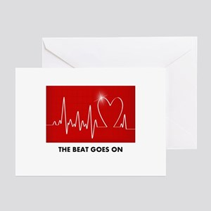 The Beat Goes On - Post Heart Attack Greeting Card